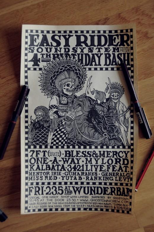 EASY RIDER B-DAY 14 INK
