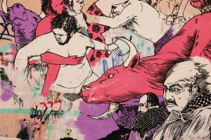graffiti street art broken fingaz haifa israel unga tant kip deso telaviv cow