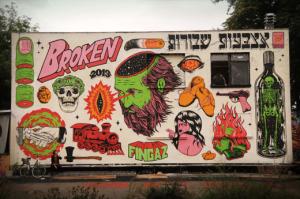 graffiti street art broken fingaz haifa israel unga tant kip deso berlin germany urban spree hitler shoacid