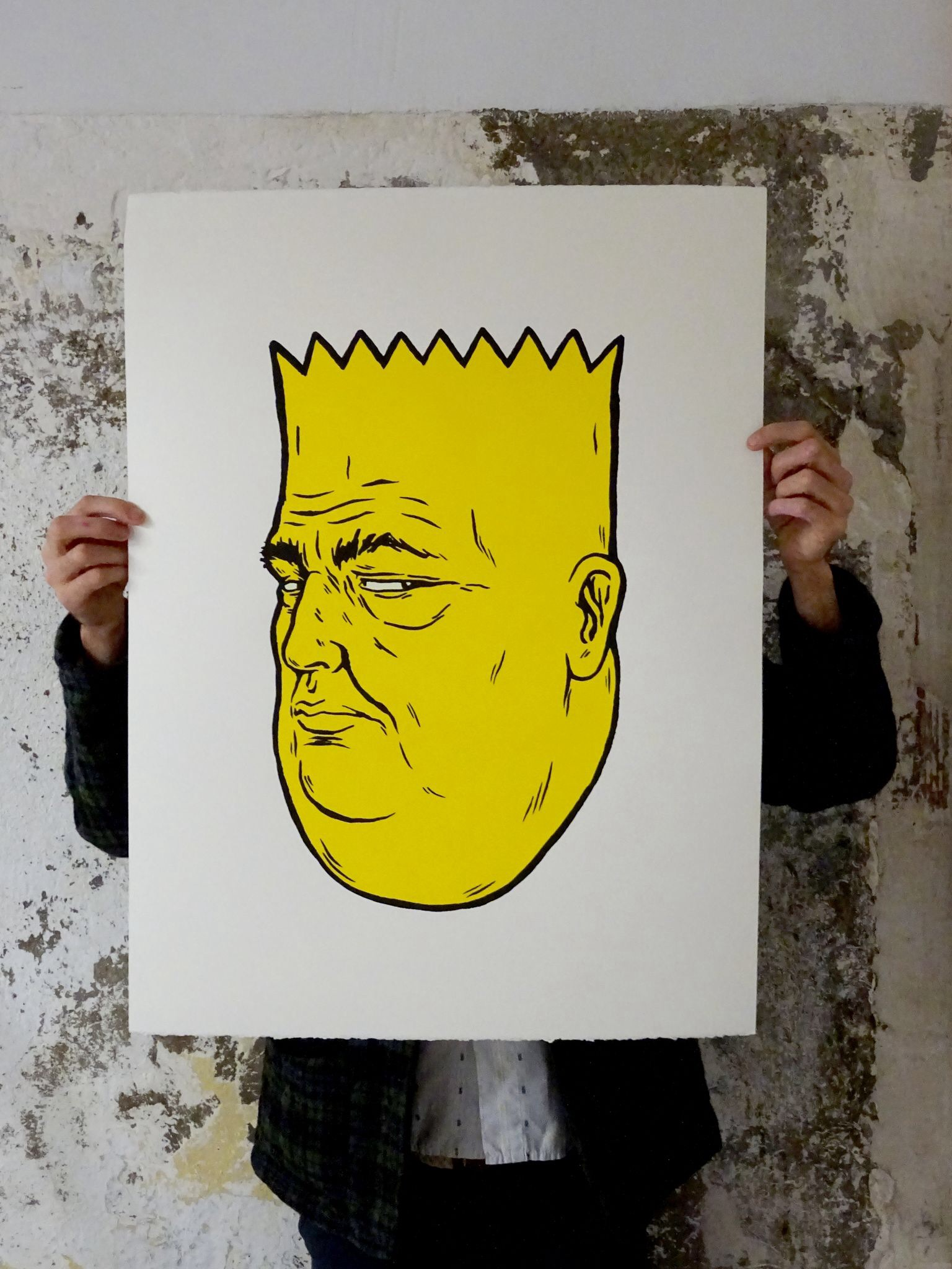 unga broken fingaz fat bart simpson print