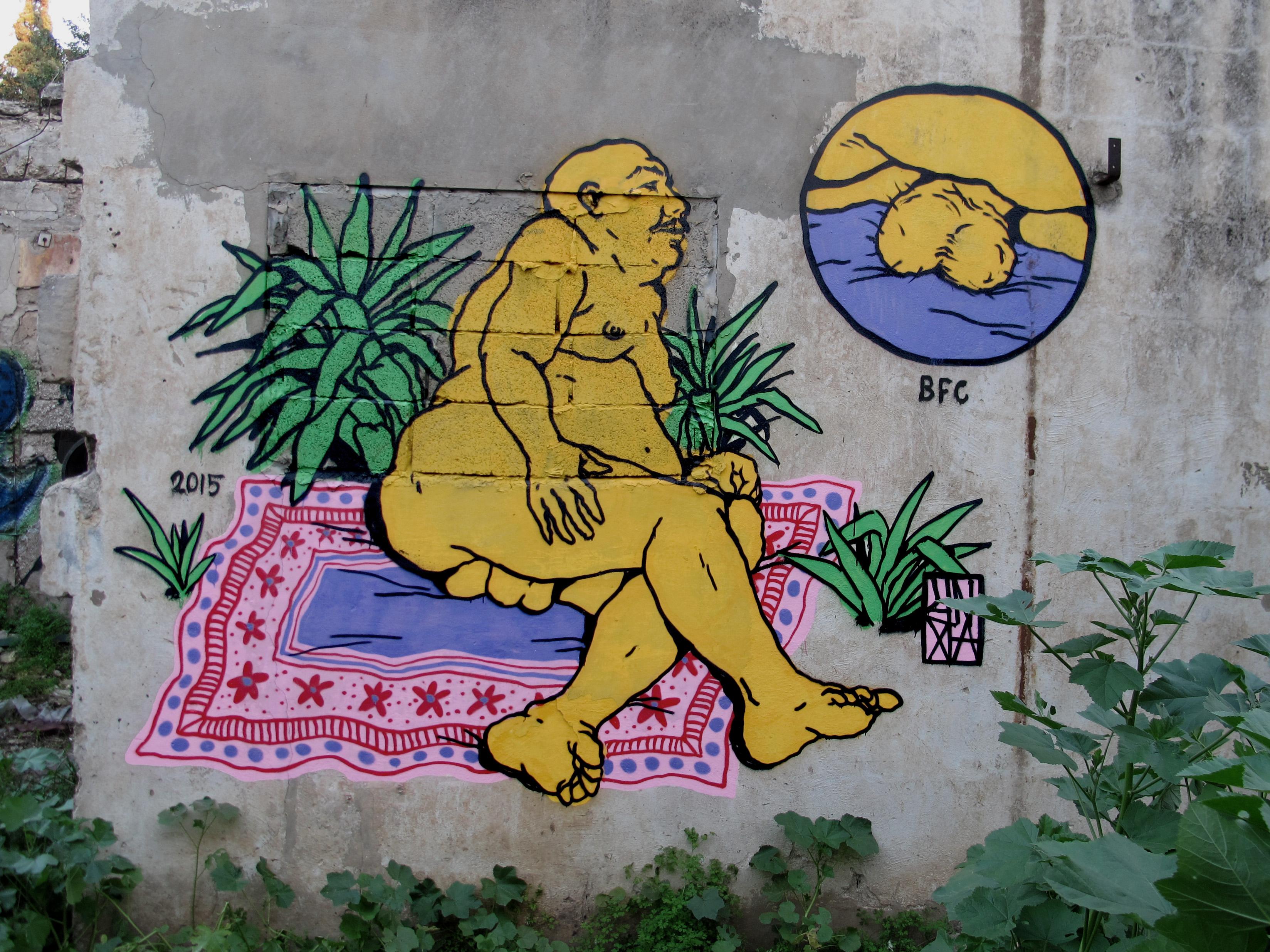 unga broken fingaz graffiti streetart haifa israel bfc fat man balls