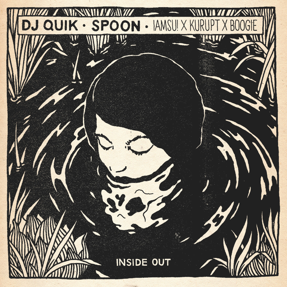 Spoon featuring Iamsu!, Kurupt & Boogie – Inside Out (DJ Quik Remix) unga broken fingaz artwork single cover