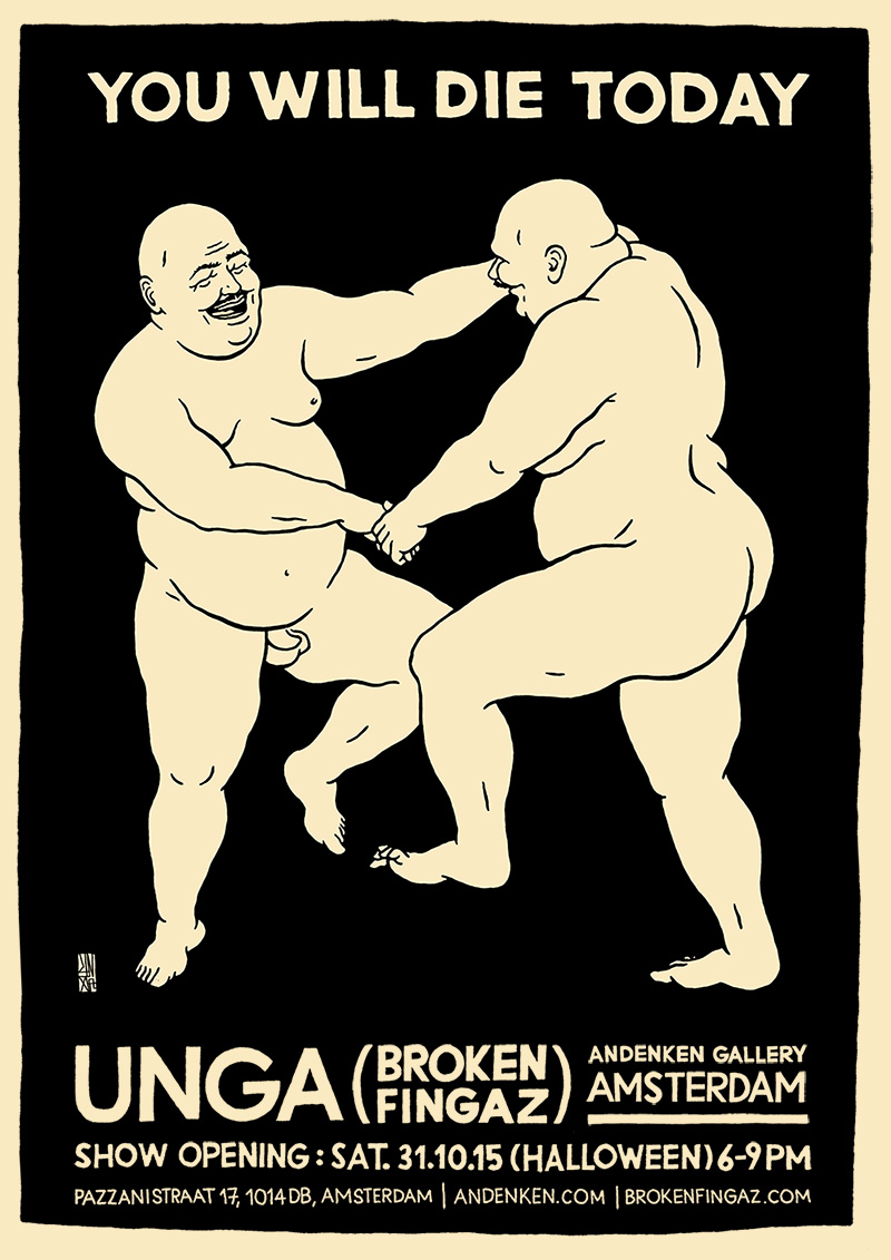 unga broken fingaz grffiti street art fat man amsterdam andenken