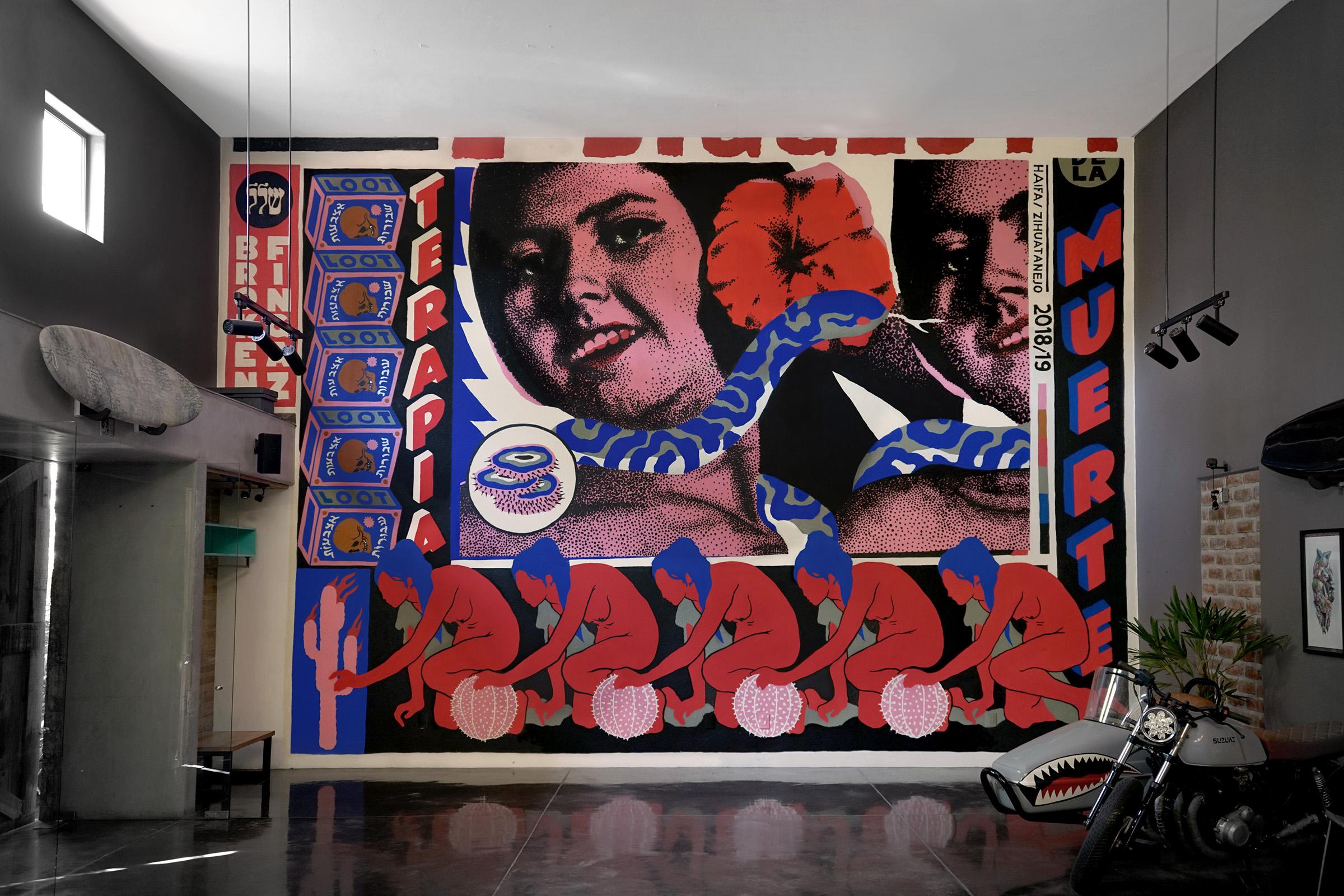 broken fingaz tant unga deso mexico israel loot mural street art graffiti snake
