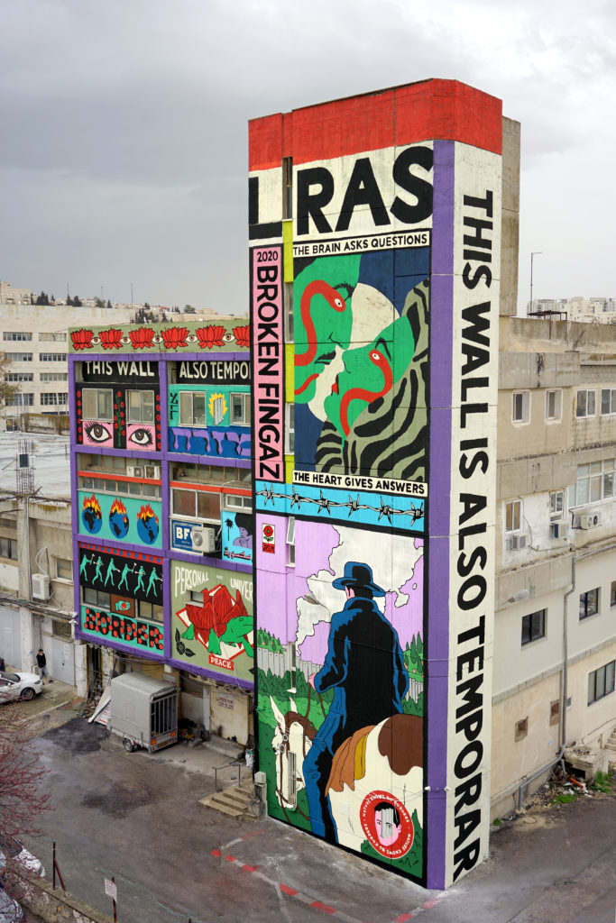 broken fingaz art painting saatchi gallery london street art graffiti unga tant deso haifa israel middle east borders palestine jerusalem bfc graffiti mural street art 2020 israel seperation wall peace unga